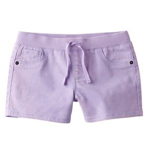 Girls purple shortie shorts size 10